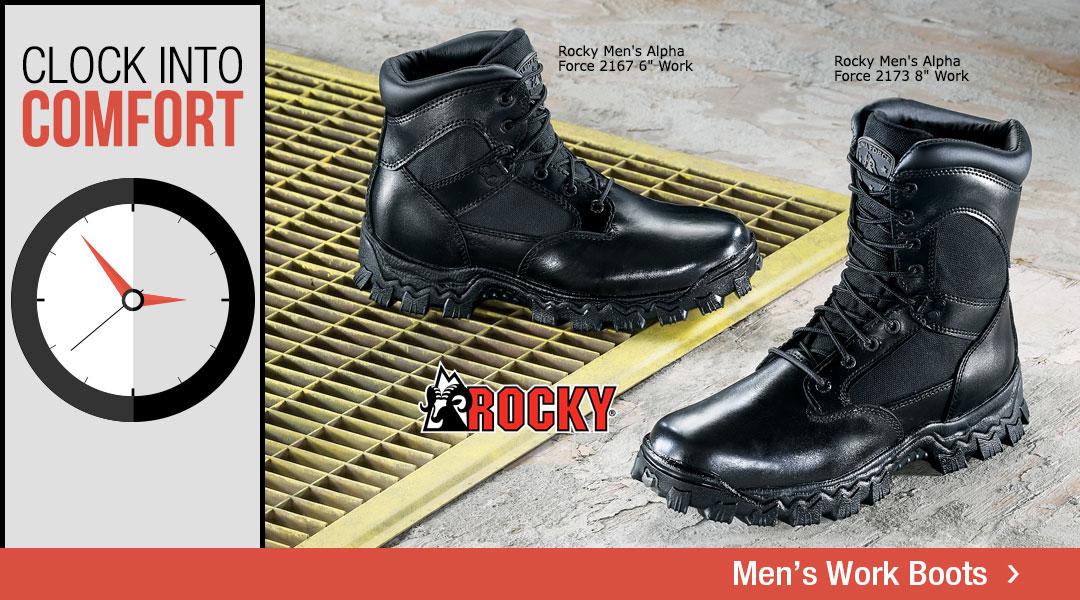 Clock Into Comfort - Shop Men's Work Boots.
