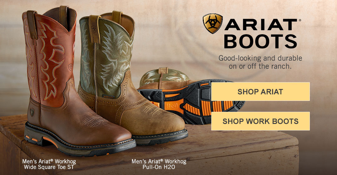 Shop Ariat Boots. Good-looking and durable on or off the ranch