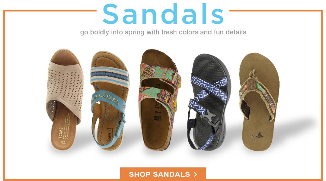 Go Bold into Spring - Shop Sandals.