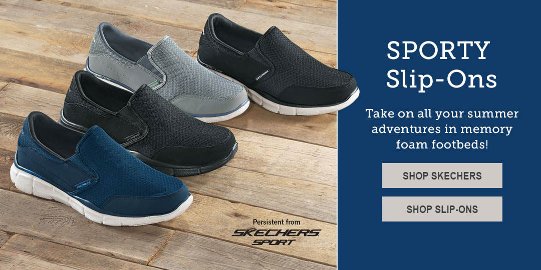Take on your summer adventures in slip-ons for Men, Women and Kids.
