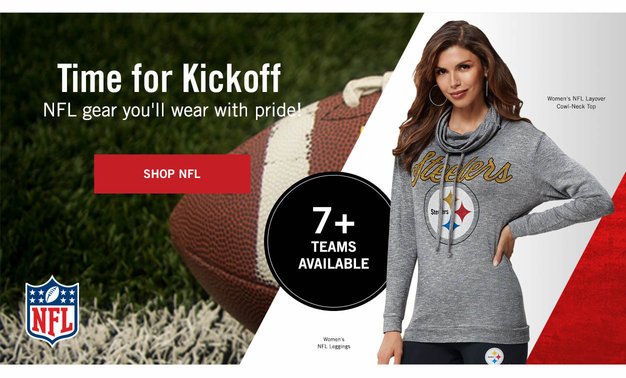 Time for Kickoff! Shop NFL Gear