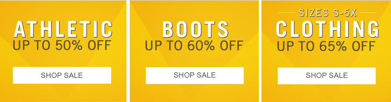 Sale on Athletic, Boots and Clothing