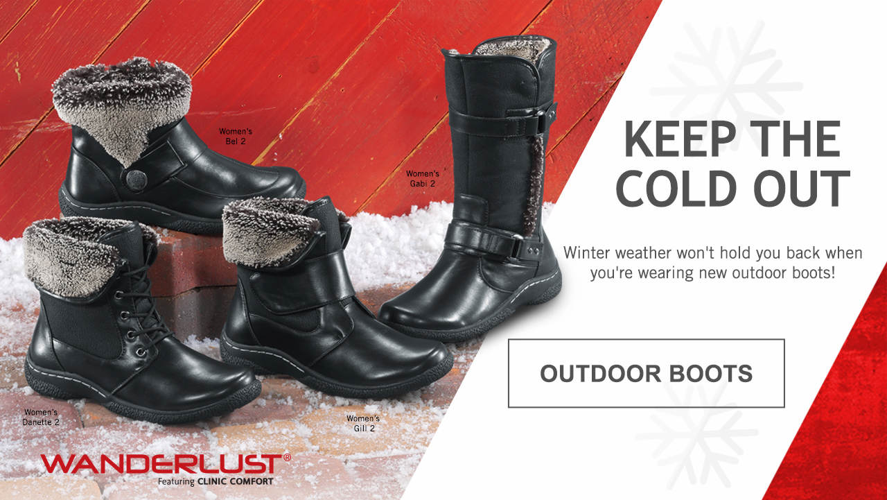 Outdoor Boots - Keep the cold out - winter weather won't hold you back when you're wearing new outdoor boots!