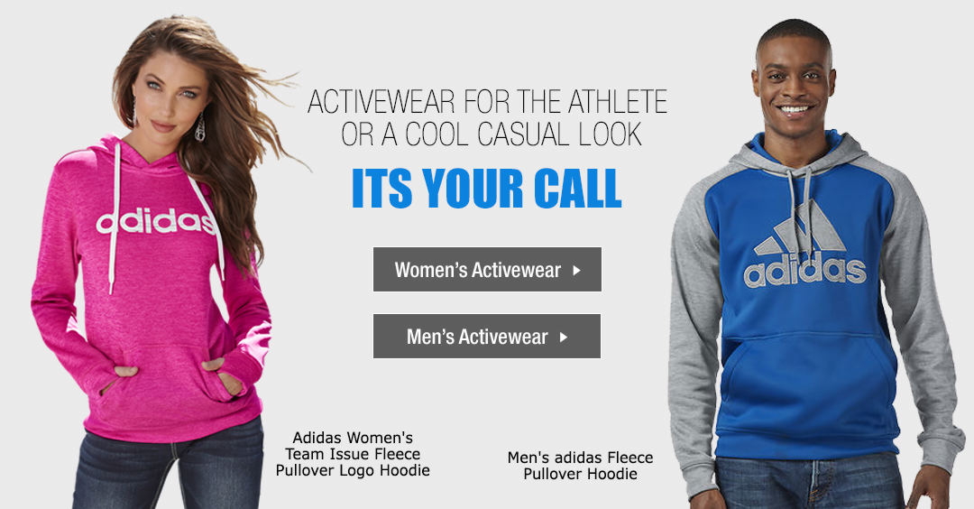 Activewear for the athlete or a cool casual look - Its Your Call!