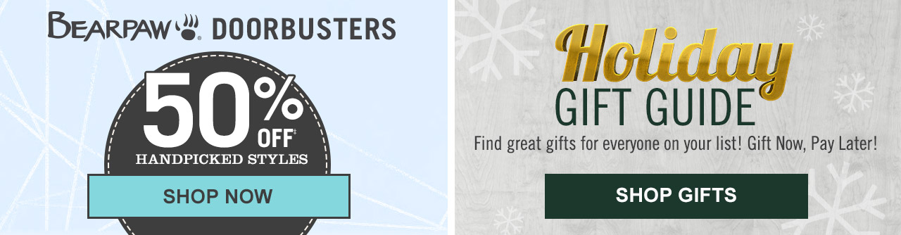 Shop Bearpaw Doorbusters and Holiday Gift Guide!