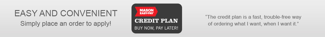 Buy Now, Pay Later with Mason Easy-Pay Credit