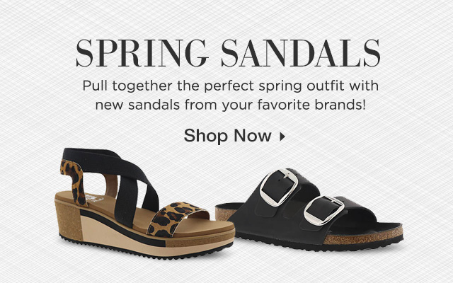 Spring Sandals - Pull together the perfect spring outfit with new sandals from your favorite brands! Shop Now