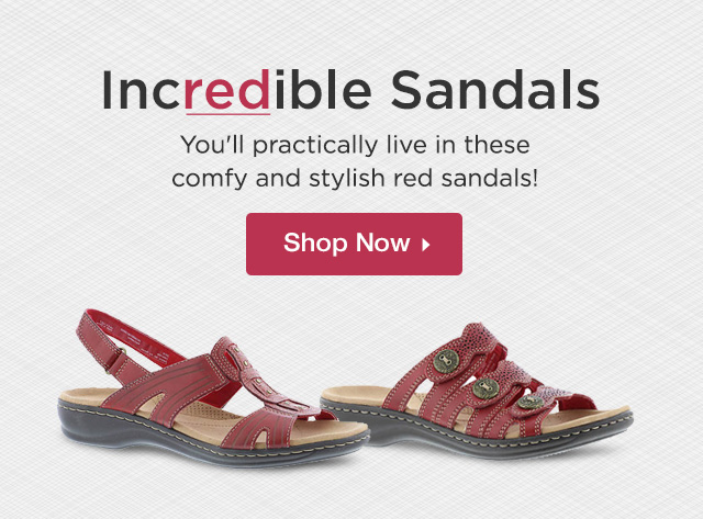 You'll practically live in these comfy and stylish red sandals! Shop Now