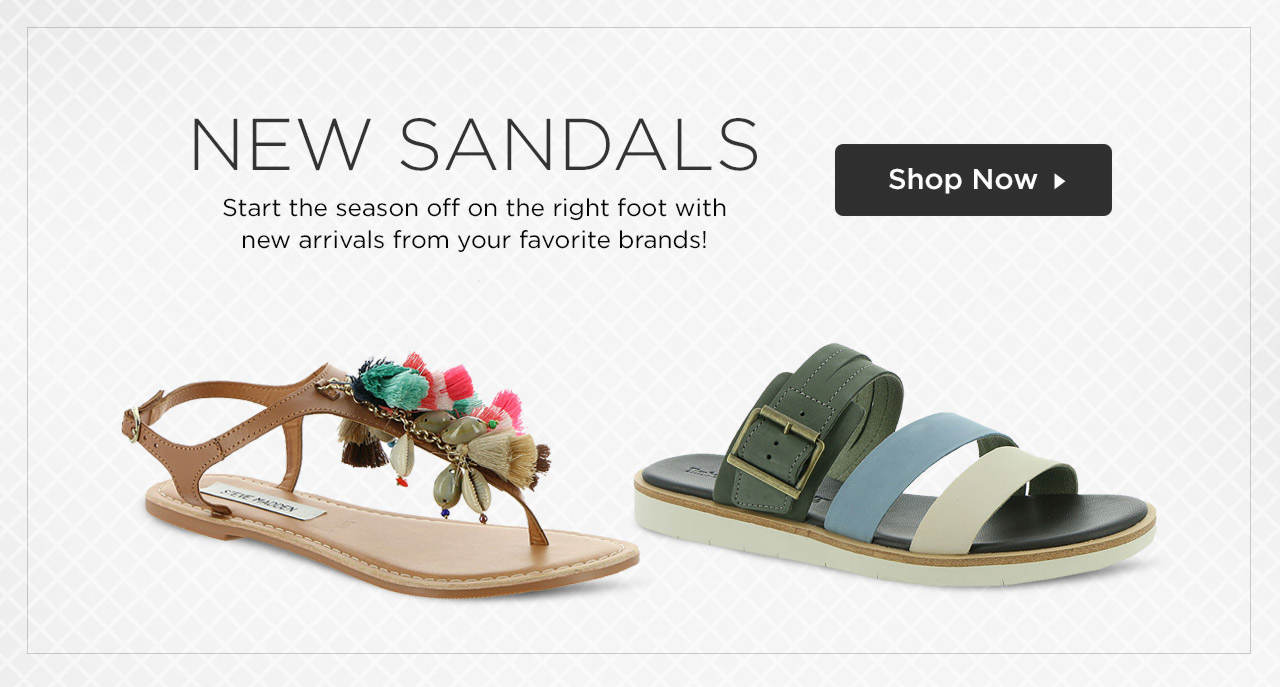 Start the season off on the right foot with new sandals from your favorite brands! Shop Now