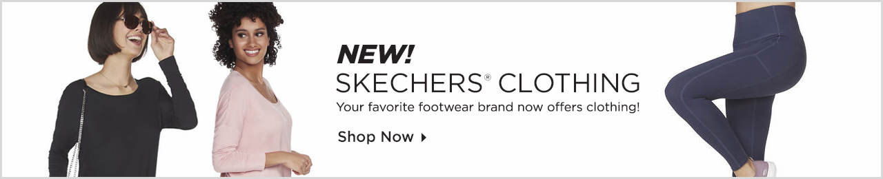 Your favorite footwear brand now offers clothing! Shop Skechers Clothing