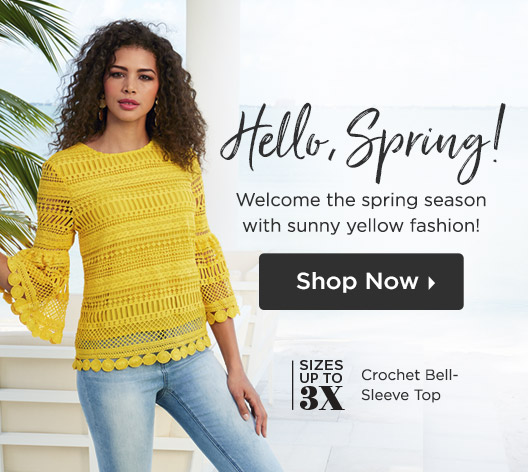Hello, Spring! Welcome the spring season with sunny yellow fashion! Shop Now