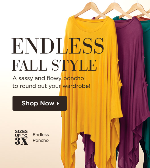 Endless Fall Style - A sassy and flowy poncho to round out your wardrobe! Shop Now