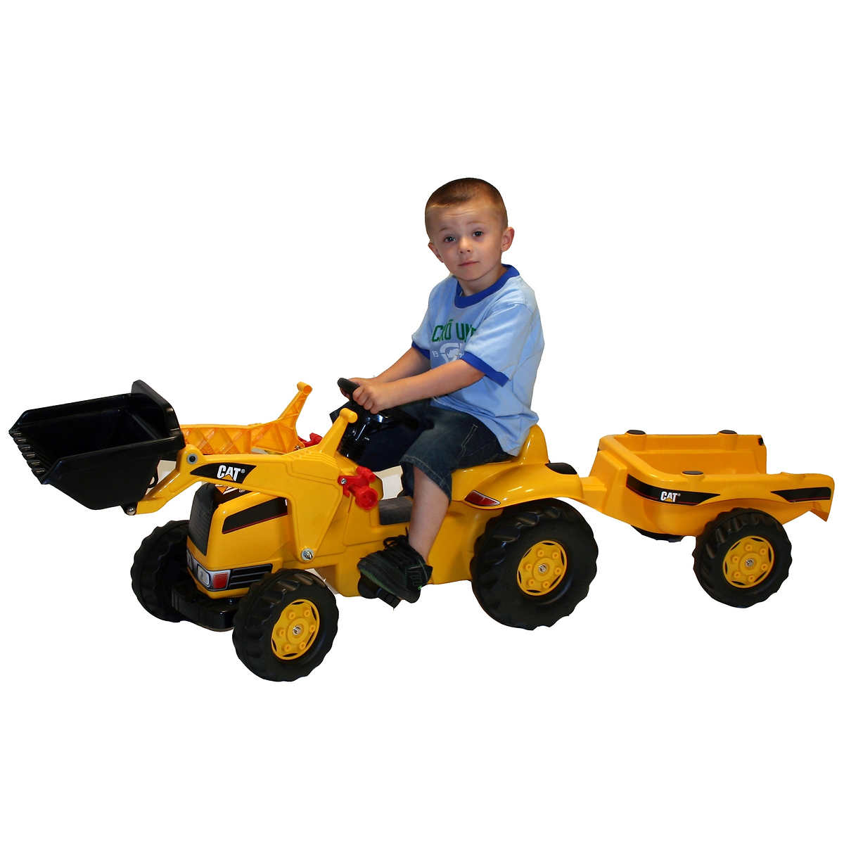 kettler kid cat tractor with trailer