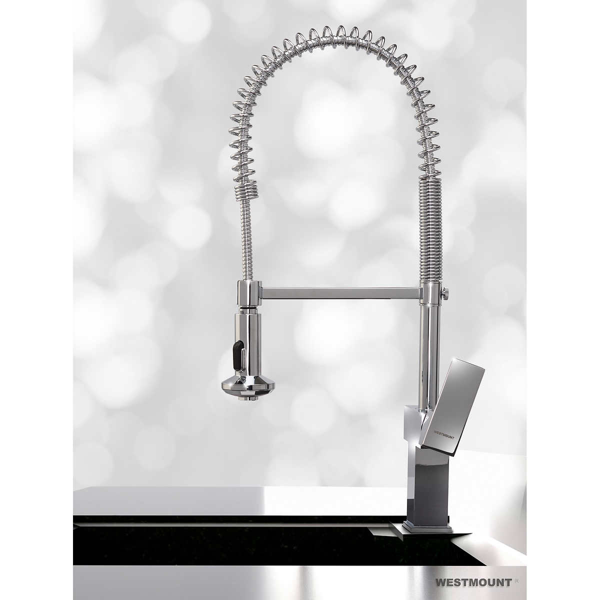 faucets costco westmount waterworks westminster single lever pull down kitchen faucet