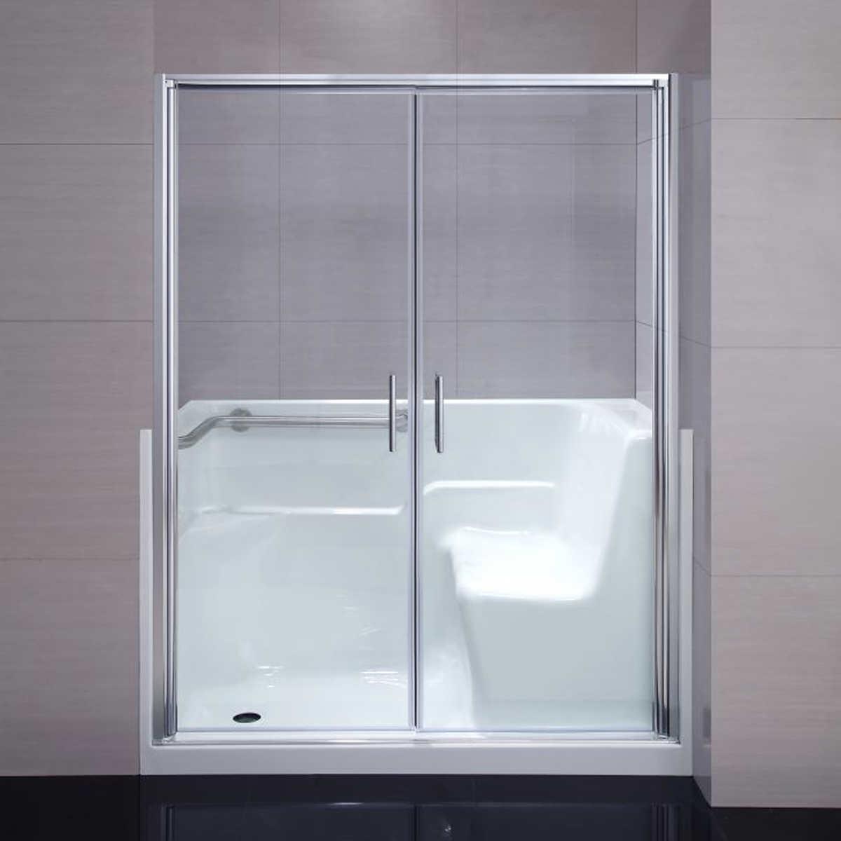 Handicapped bathroom showers