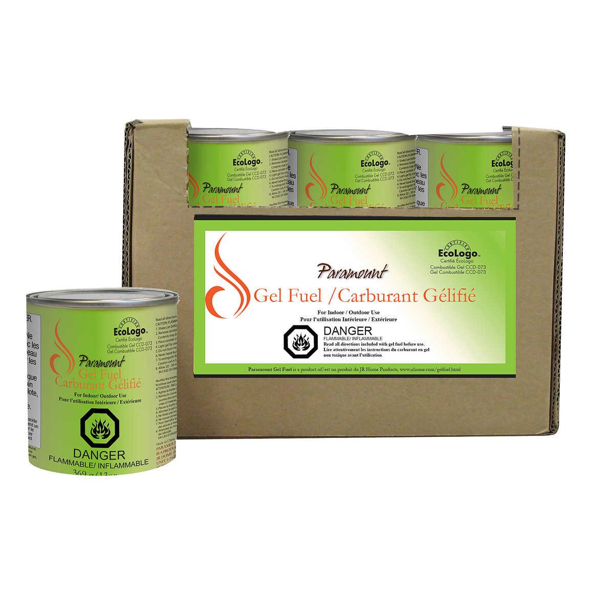 paramount smokeless eco gel fuel 24 pack