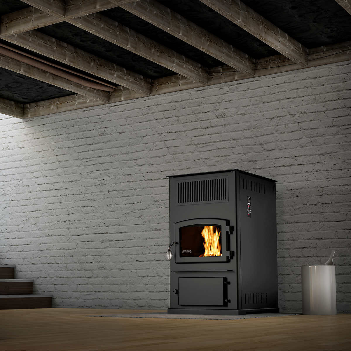 drolet eco 65 high efficiency pellet stove with ash vacuum included