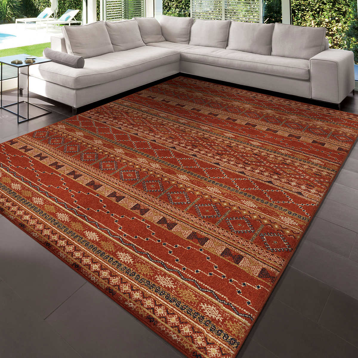 orian rugs zemmour red area rug