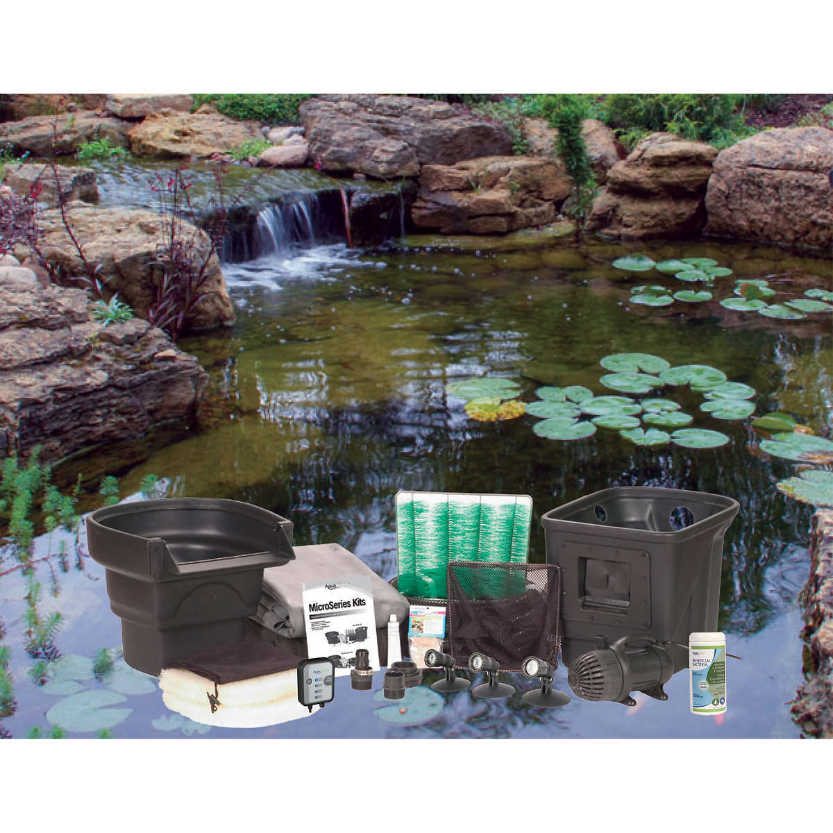 aquascape 8 ft x 11 ft ecosystem pond kit