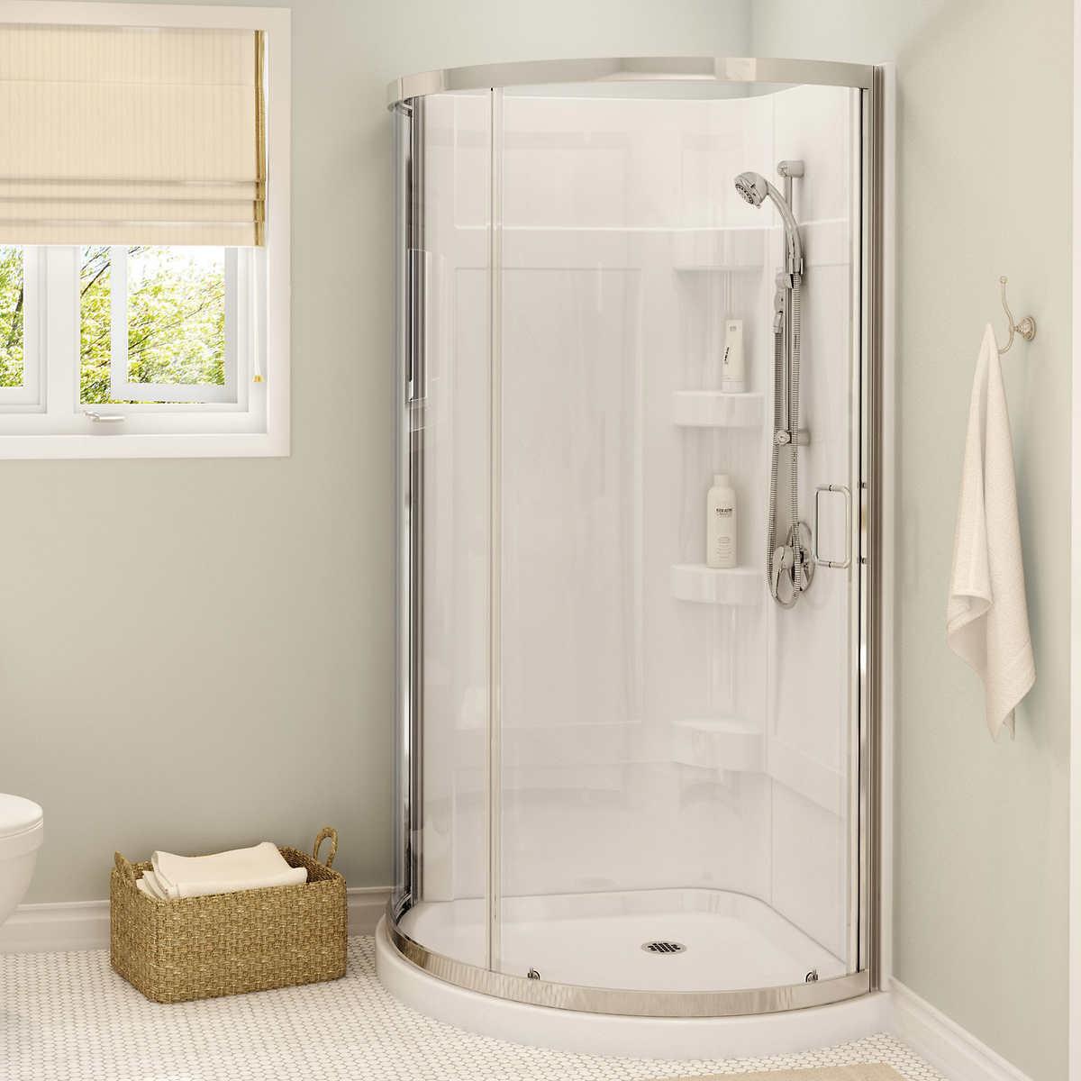 showers costco maax cyrene round corner shower kit