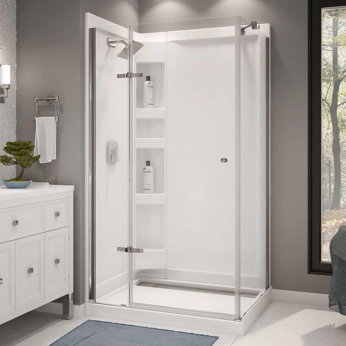 showers costco maax athena corner shower kit