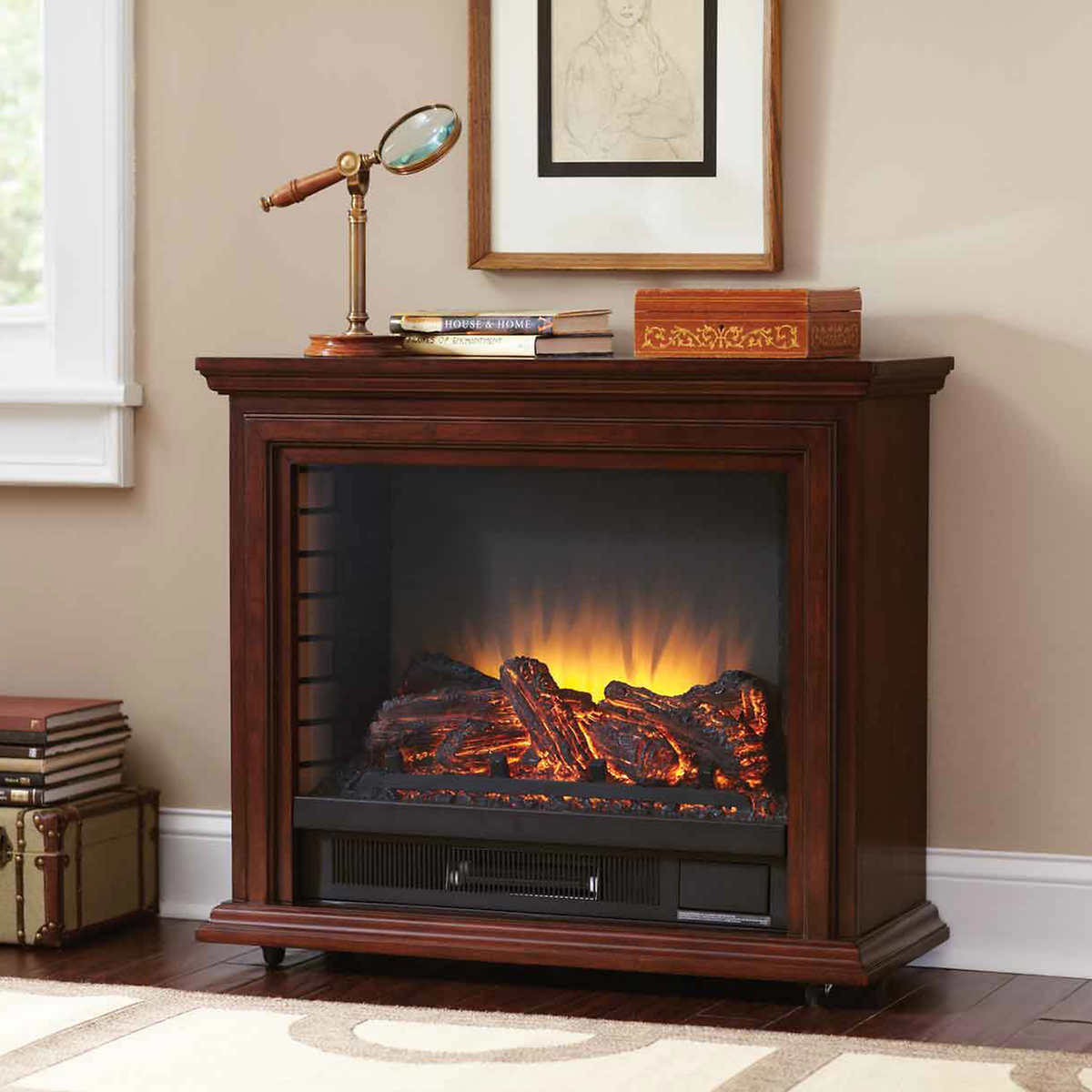 pleasant hearth sheridan infrared mobile fireplace