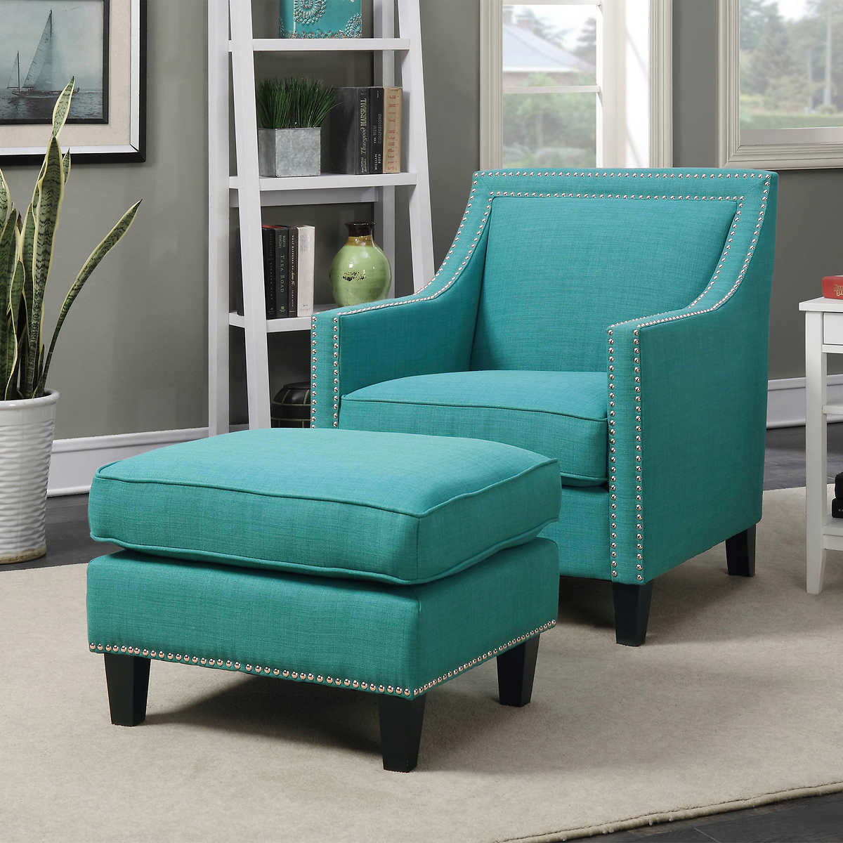 Accent Chairs With Ottomans Best Home Design 2018
