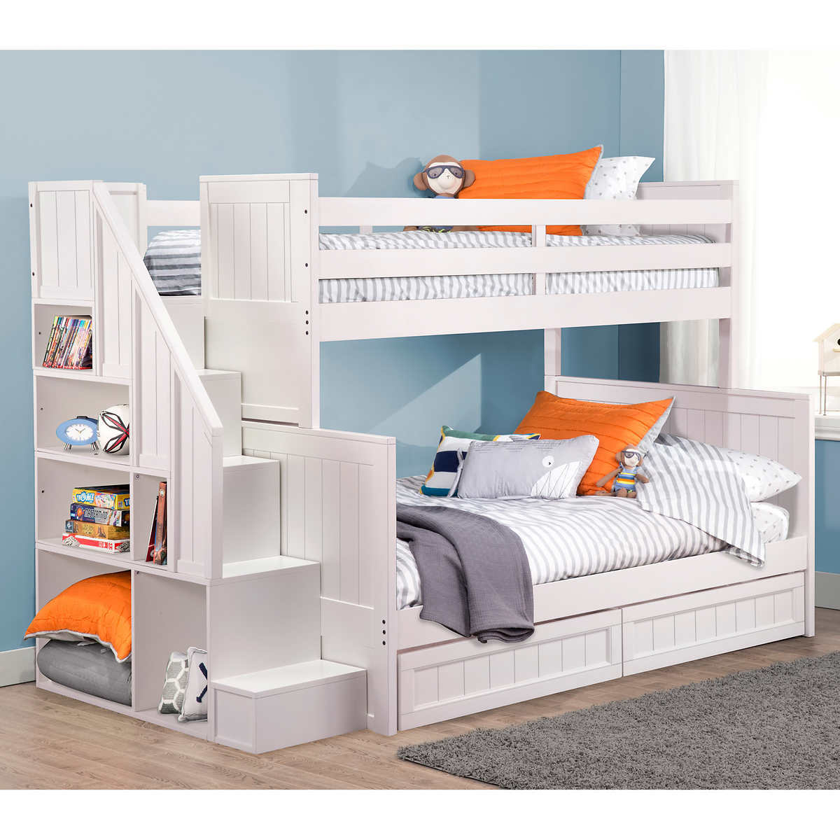 Double Bunk Beds With Stairs Canada Photos Freezer And Stair