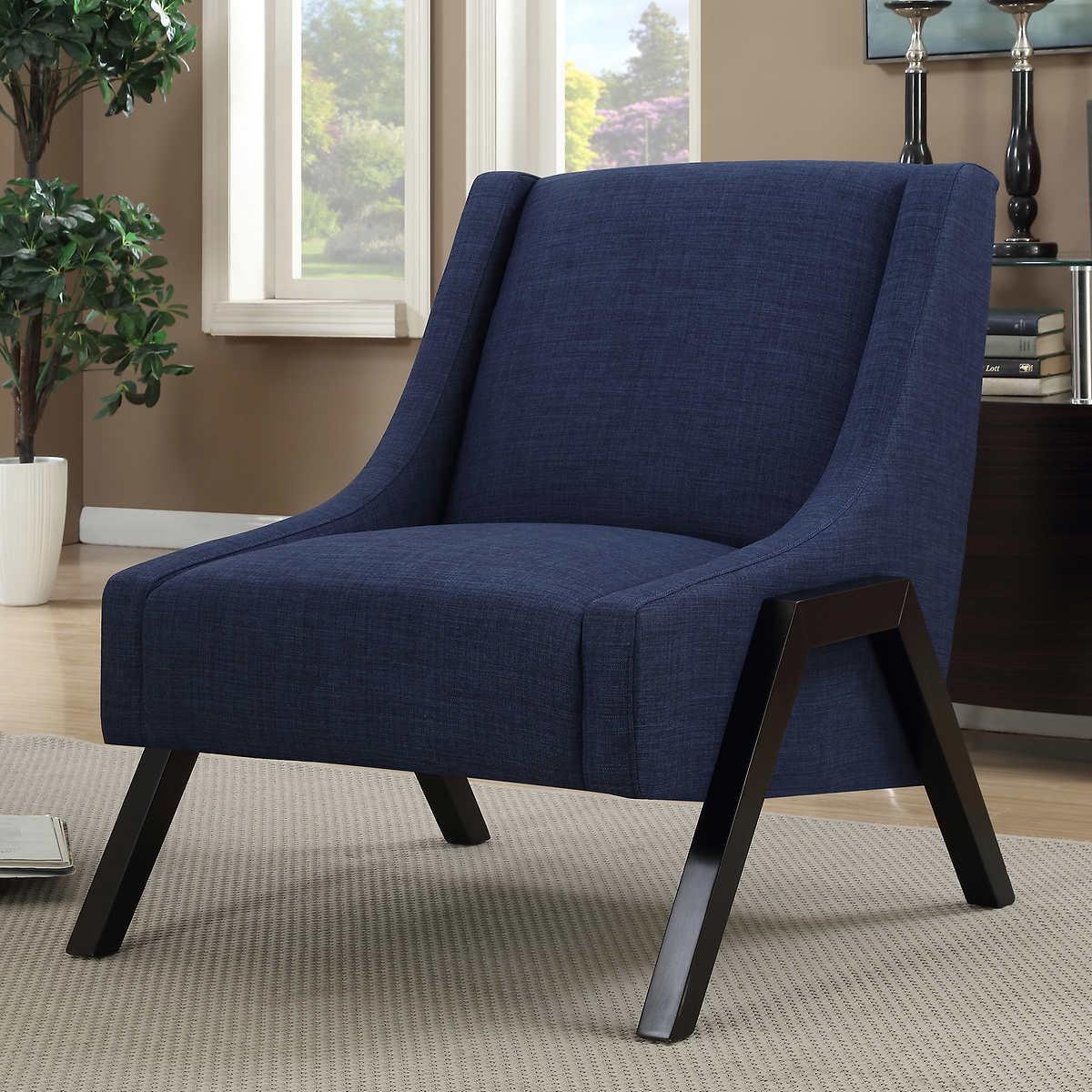 lane navy blue accent chair