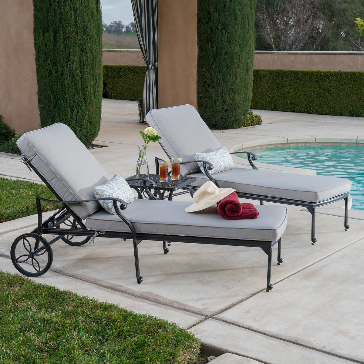 Garden Furniture Jysk chaise loungers | costco