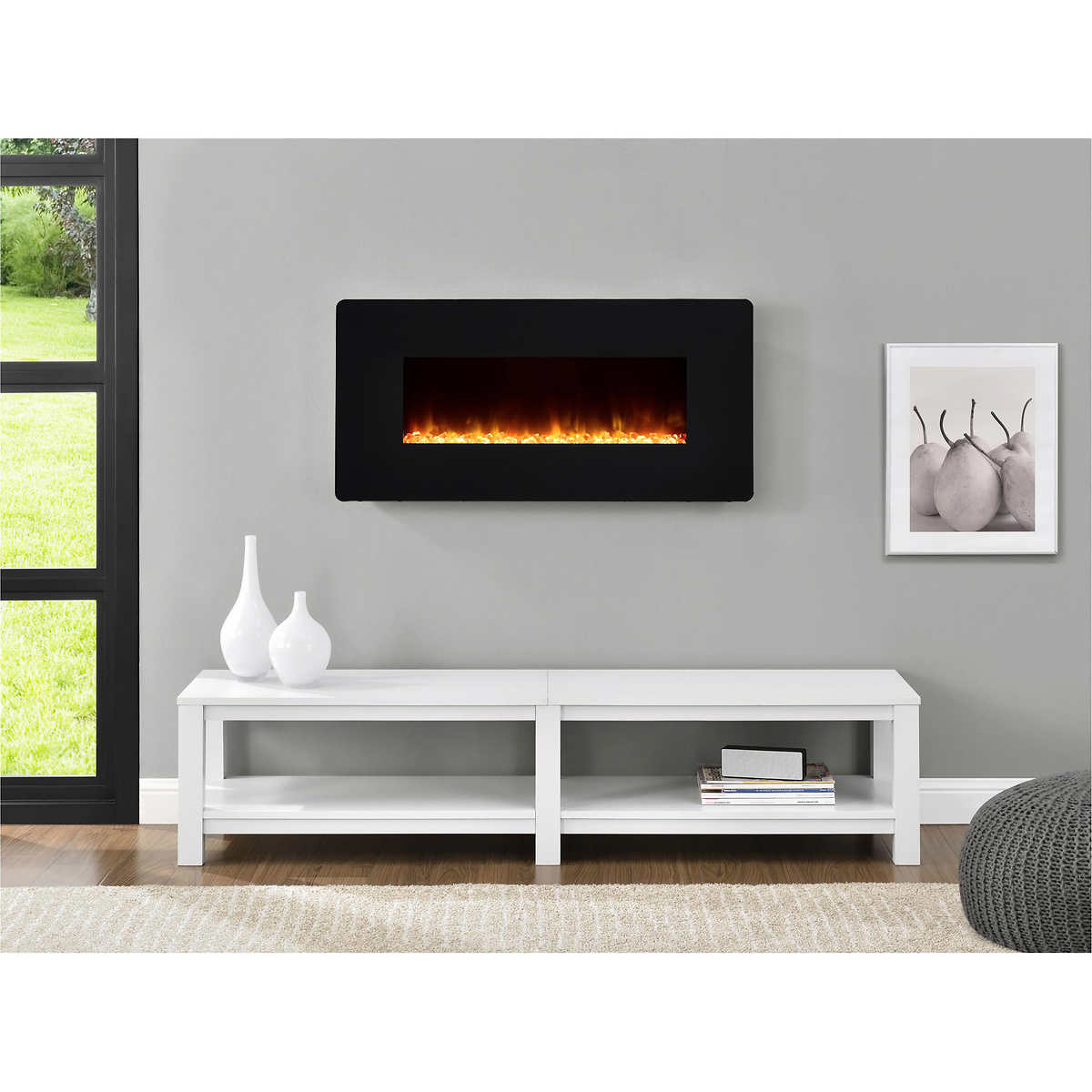 napoleon 95 in electric wall mount fireplace