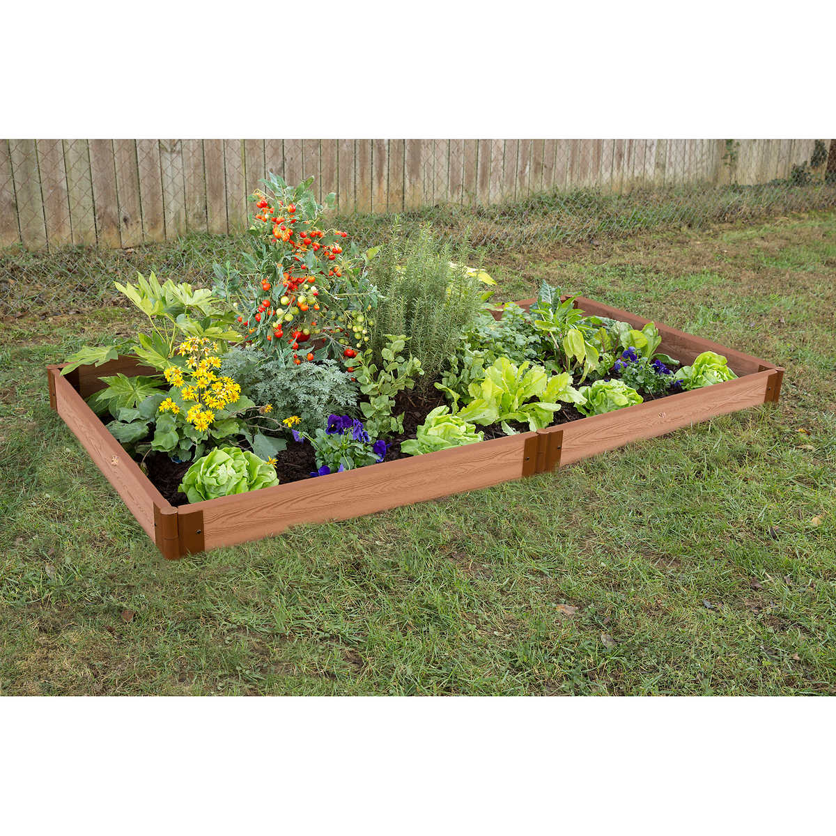 Frame it All System Raised Garden Bed Kit 4 ft x 8 ft x 55 in