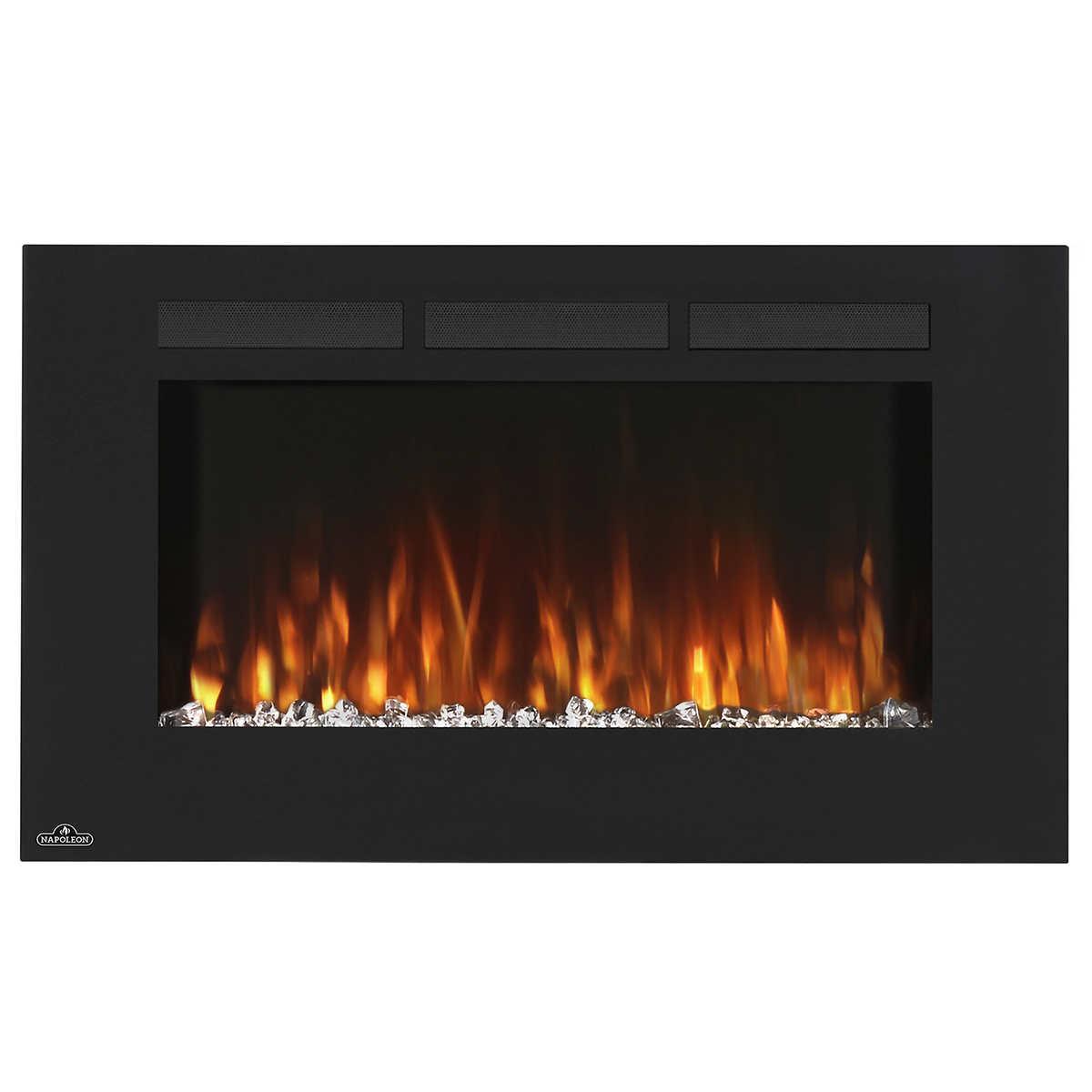 muskoka urbana 35 in electric wallmount fireplace