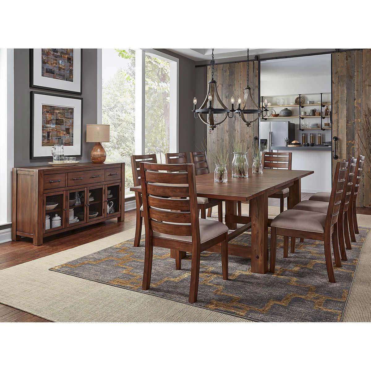 dining kitchen furniture costco archer 10 piece dining set