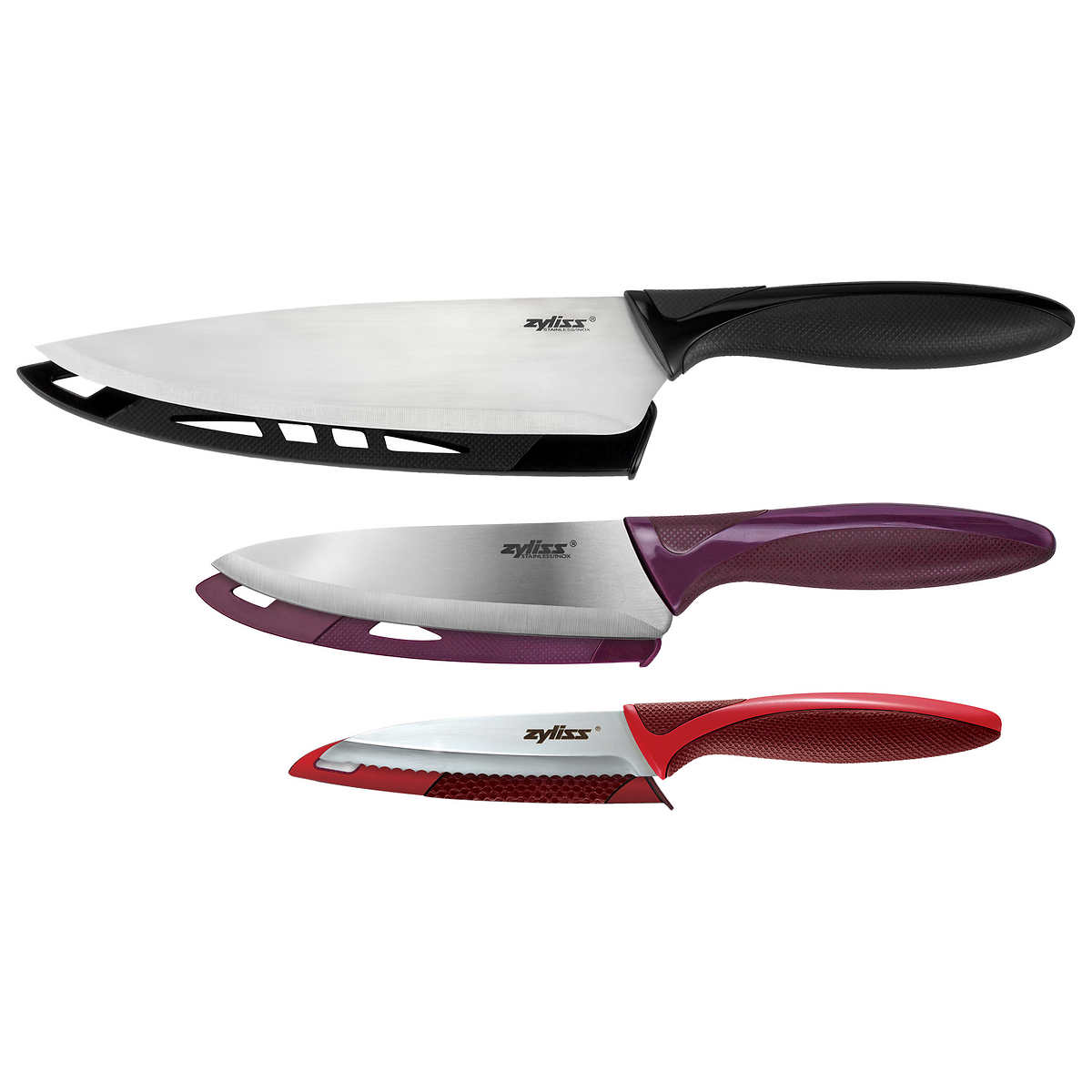 cutco 6-piece kitchen knives set with tray