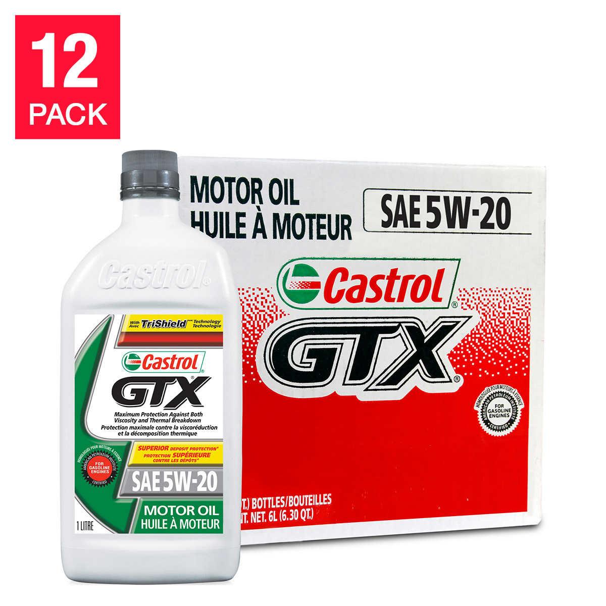 Castrol gtx 5w20 motor oil 12 x 1 l