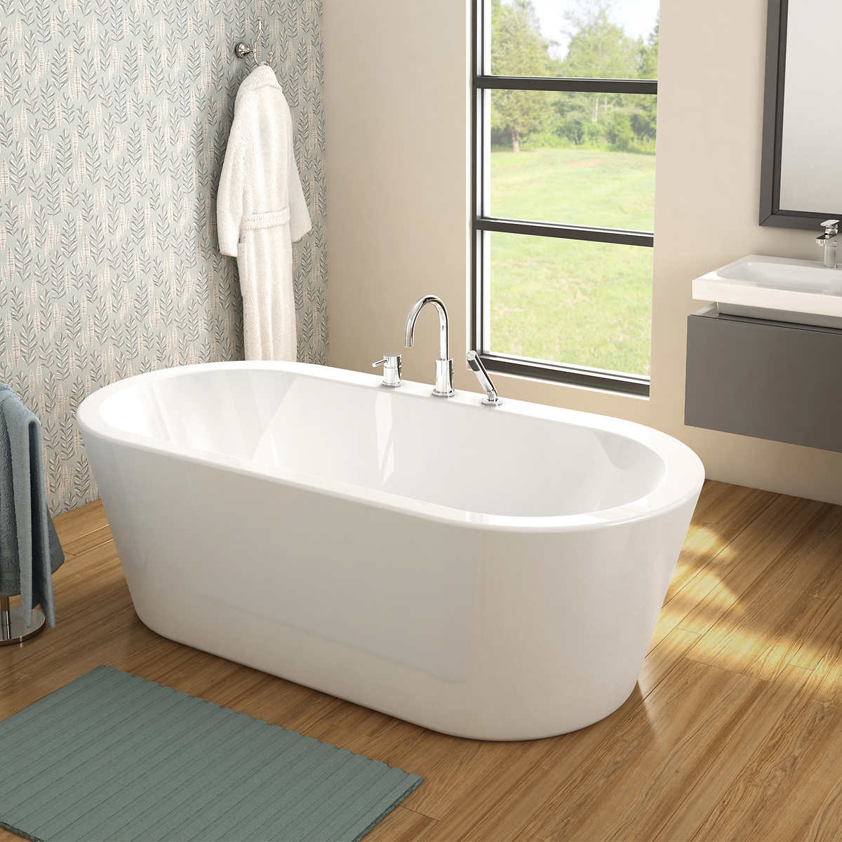 Jono Eloise Tub and Faucet ComboBathtubs   Costco. Free Standing Tub Canada. Home Design Ideas