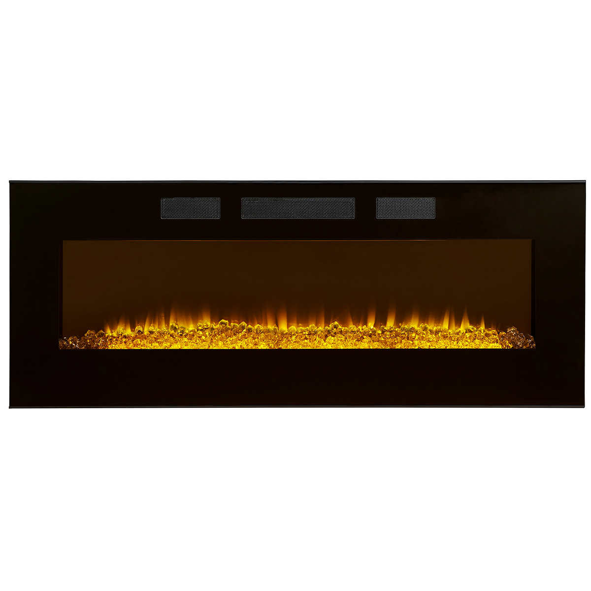 electric fireplaces  costco - linear wall mount electric fireplace