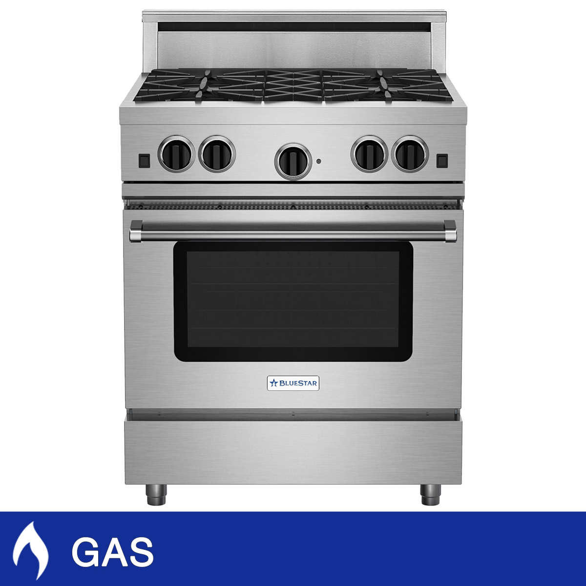 Natural Gas Range 4 Burner