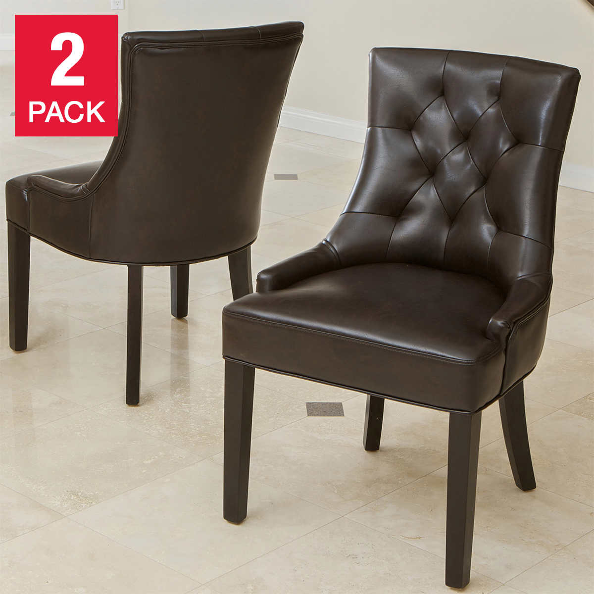 kitchen dining room chairs leather kitchen chairs Wynn Bonded Leather Chair 2 pack