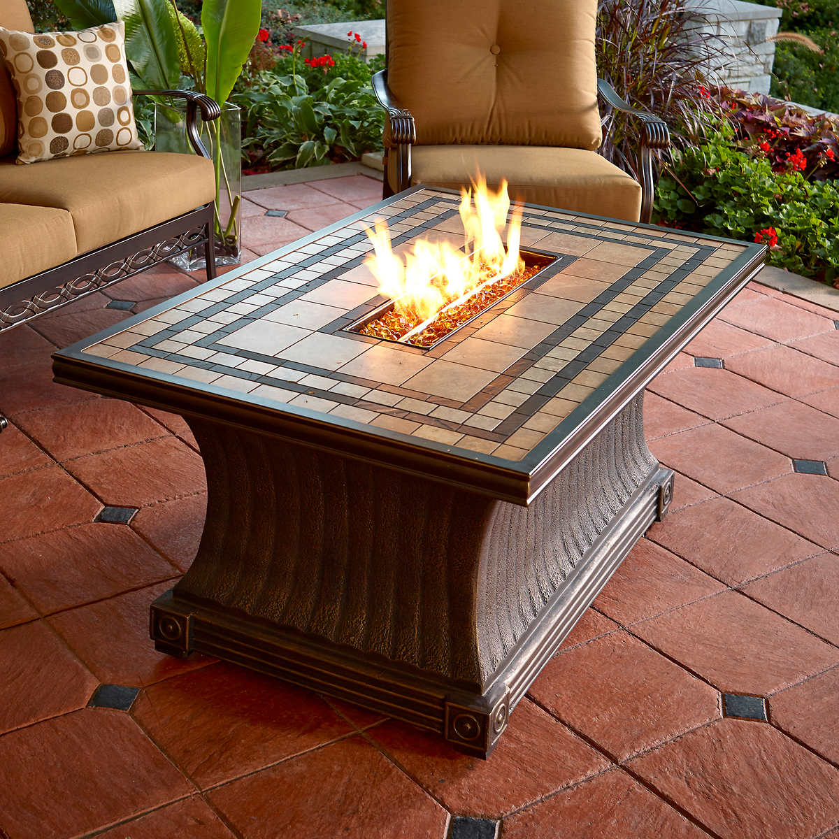Glen Manor Propane Fire Pit Table - Fire Pit