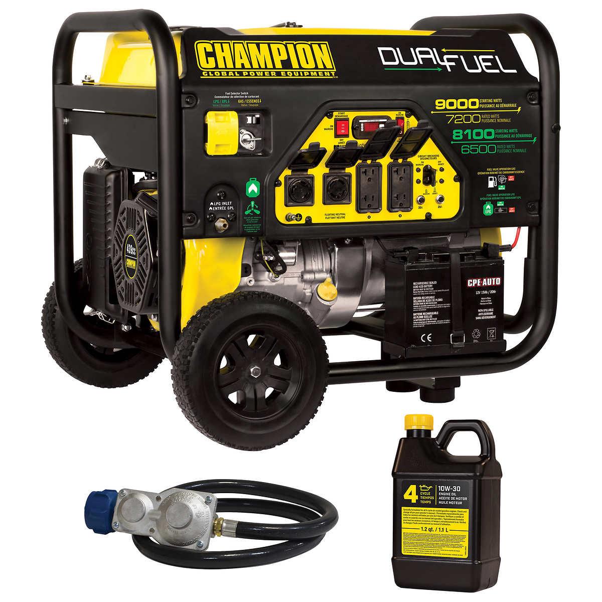 Champion 9000 W Portable Dual Fuel Generator