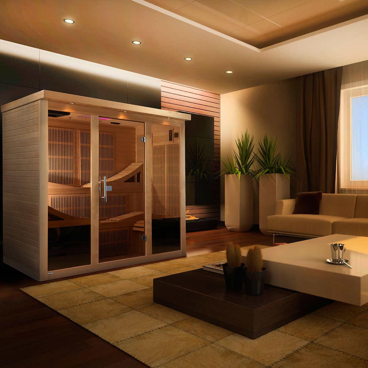 Dynamic Saunas Monaco 6-person Ultra Low EMF FAR Infrared Sauna
