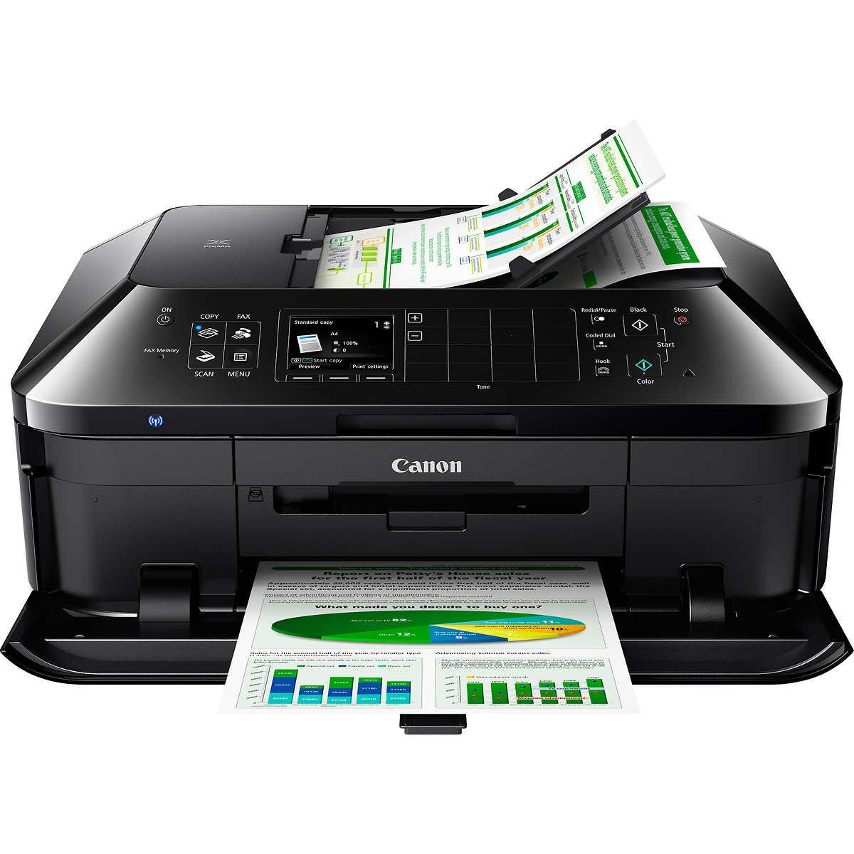 Color printing inkjet vs laser - Canon Pixma Mx922 Photo Inkjet Multifunction Colour Printer