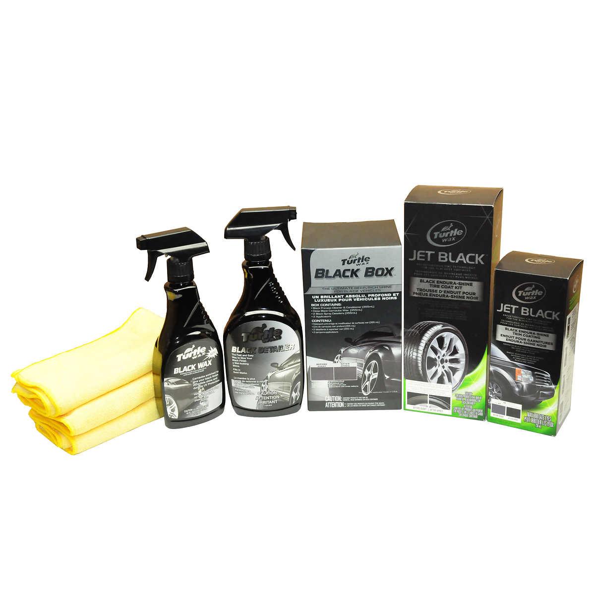 Turtle wax jet black black box car care kit