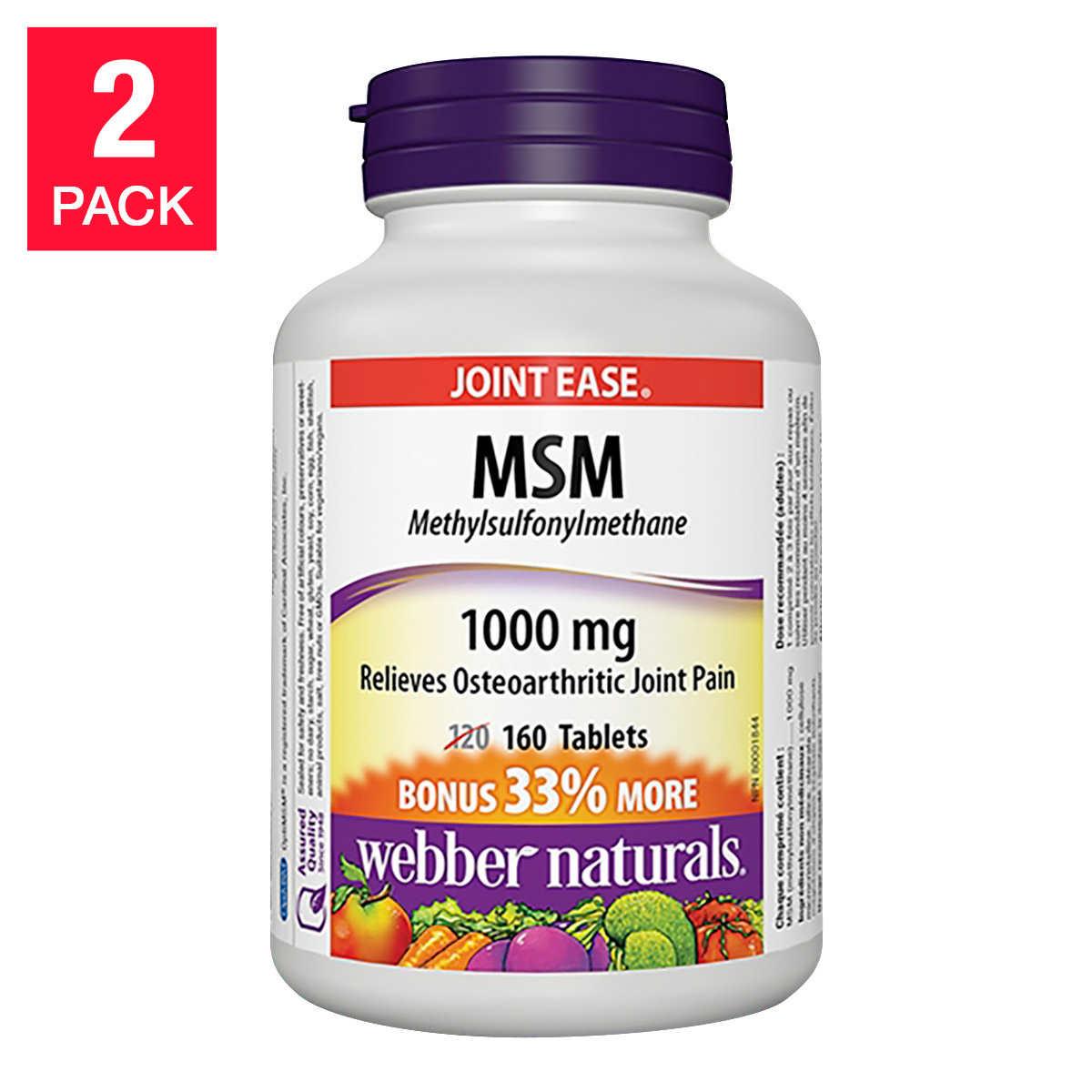 webber naturals® MSM 1000 mg -- 2 x 160 Tablets