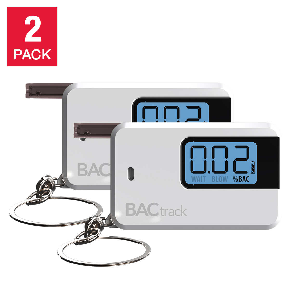 BACtrack® Go Keychain Breathalyzer, 2-pack