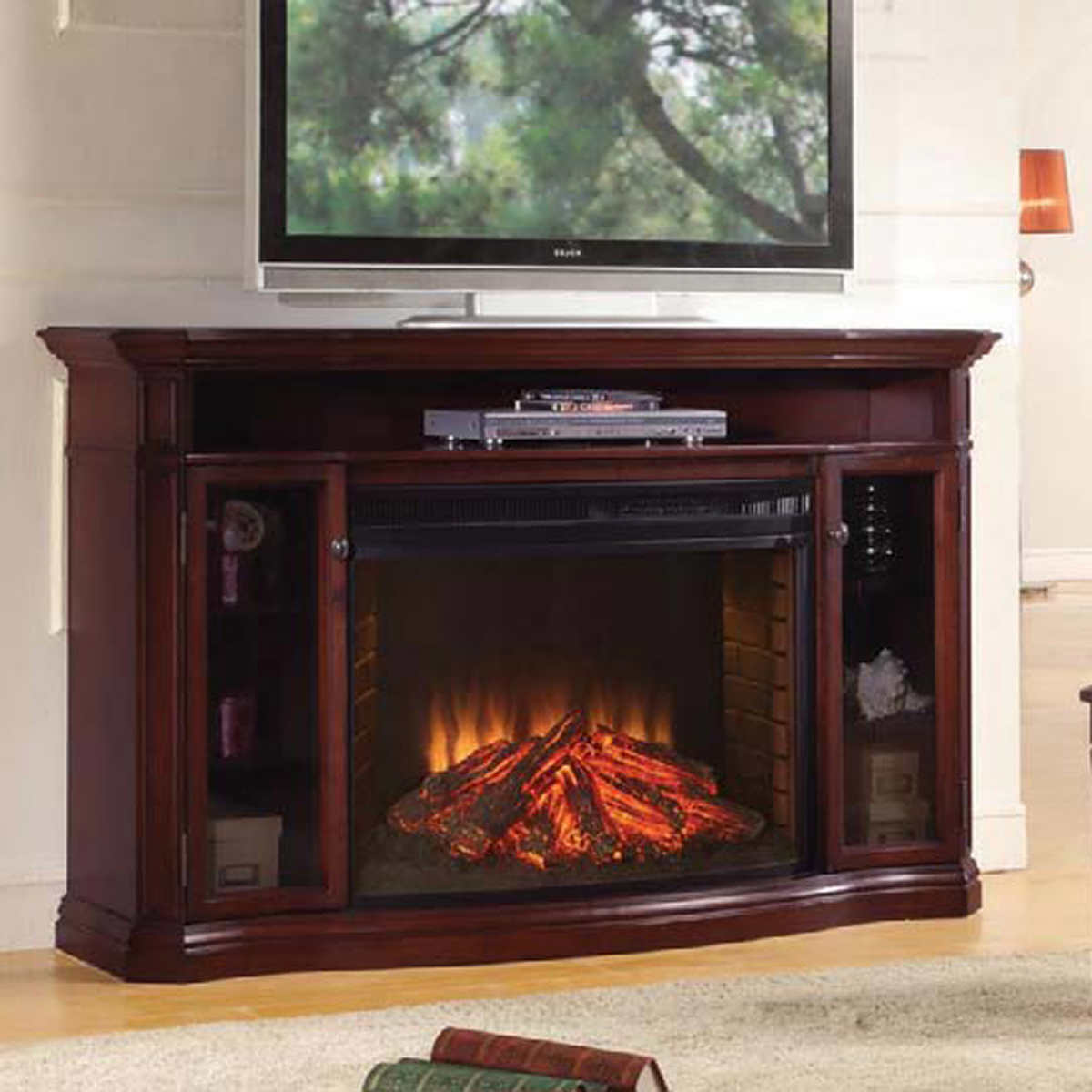 Tv Stands With Electric Fireplace Dimplex Montgomery Corner Adorable Corner Electric Fireplace