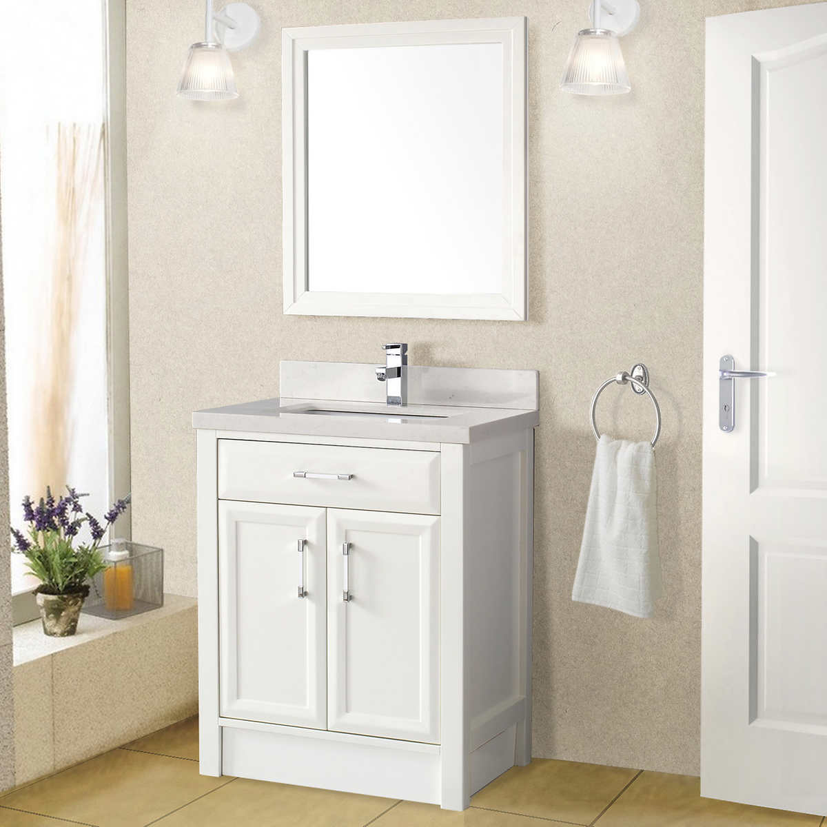 costco bathroom vanities white it is a dark brown wood vanity with a porcelain sink and an how. Black Bedroom Furniture Sets. Home Design Ideas