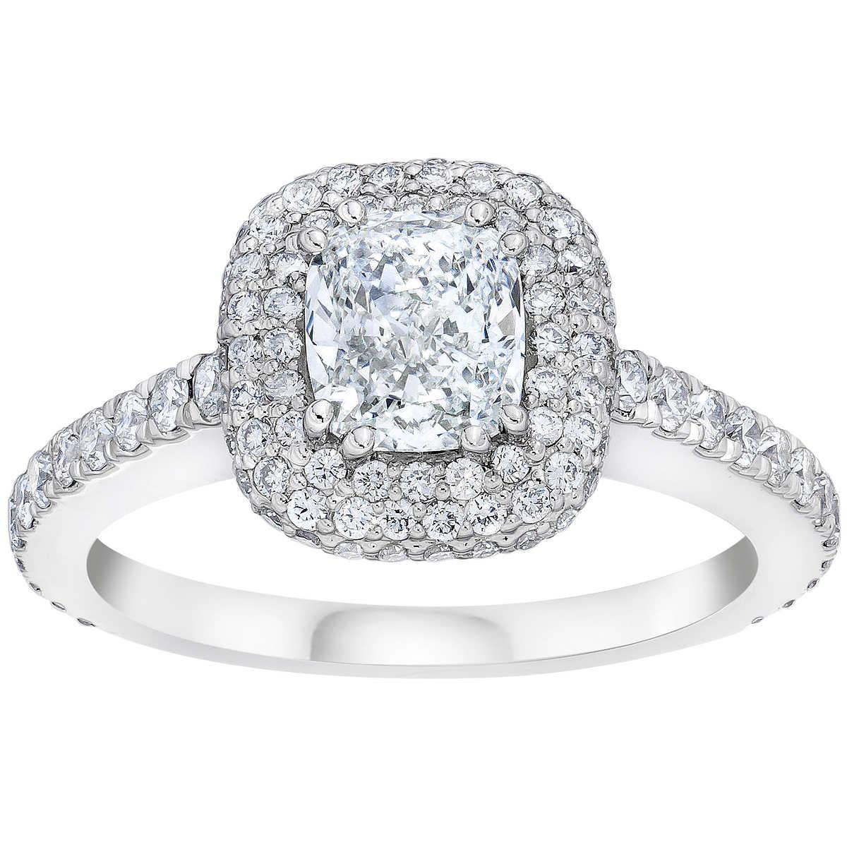 Cushion Cut And Round Brilliant Diamond Ring (225 Ctw)